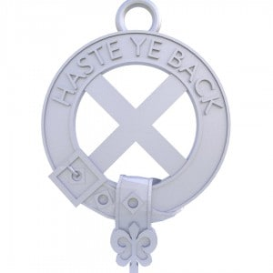 """Scottish Flag Decoration with """"Haste ye Back"""""""